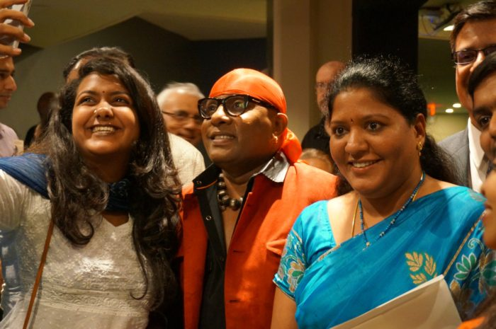 Drums Sivamani and fans taking a selfie