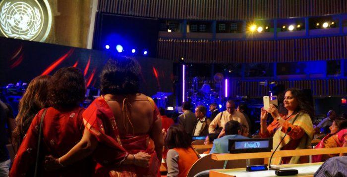 saris women taking pix before show in GA